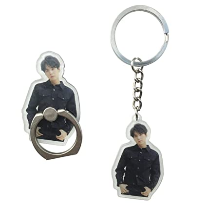 BTS Ablum Love Yourself Tear Keychain with Phone Ring Stand Holder Grip for Any Mobile Phone and Device (SUGA)