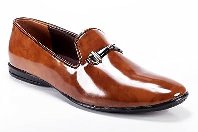 9ae57da18f8 Zapatoz Men s Faux Leatherite Tan Snoes Leather Shoes for Men Formal Shoes  for Mens