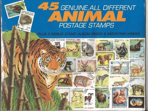(45 Genuine Postage Stamps Assortment - Animals)