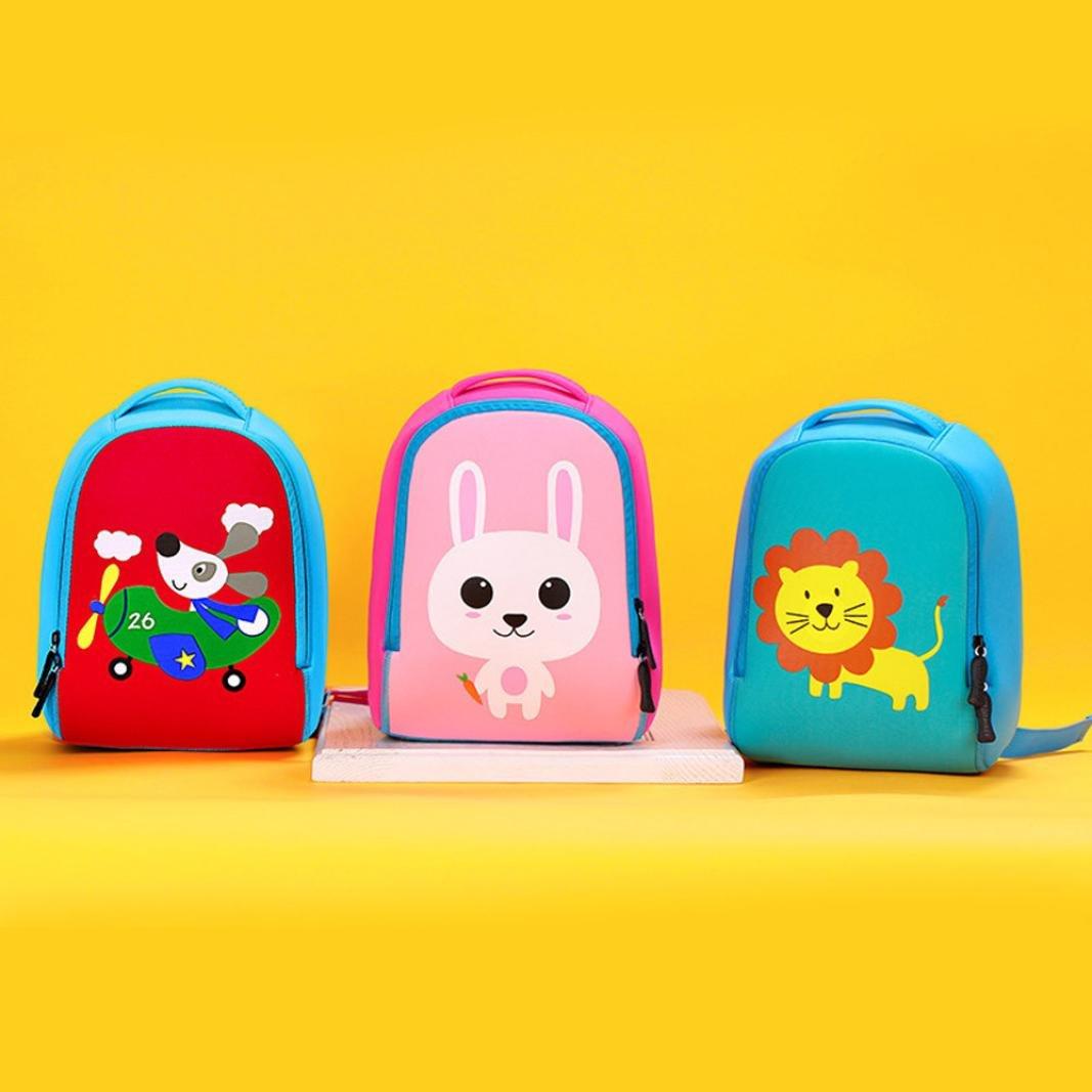 BYSTE Nuovo Bambini borsa,bambino cartone stampa schoolbag