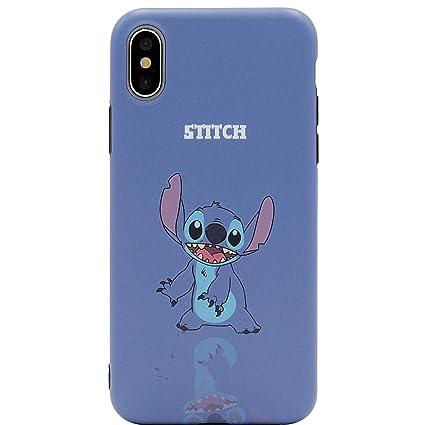 ee090a983f8 Ultra Slim Fit Soft TPU Blue Stitch Case for iPhone Xs MAX 6.5 Inch 2018  Walt Disney Disneyland Cartoon Lilo Thin Sleek Smooth Shockproof Protective  Cute ...