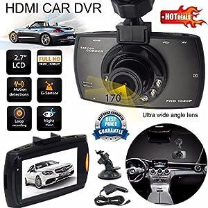 Full Hd 1080p Car Vehicle Dashboard Video Camera Dvr 2 7 Screen Night Vision New Loop Record