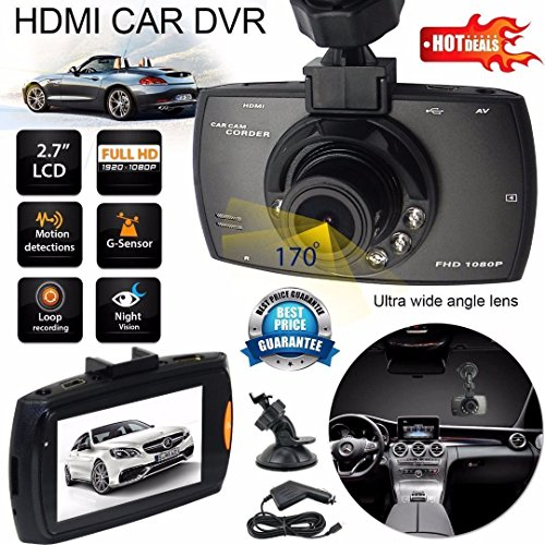Full Hd 1080p Car Vehicle Dashboard Video Camera Dvr 2 7 Screen Night Vision New Loop - Online Buy Police Sunglasses