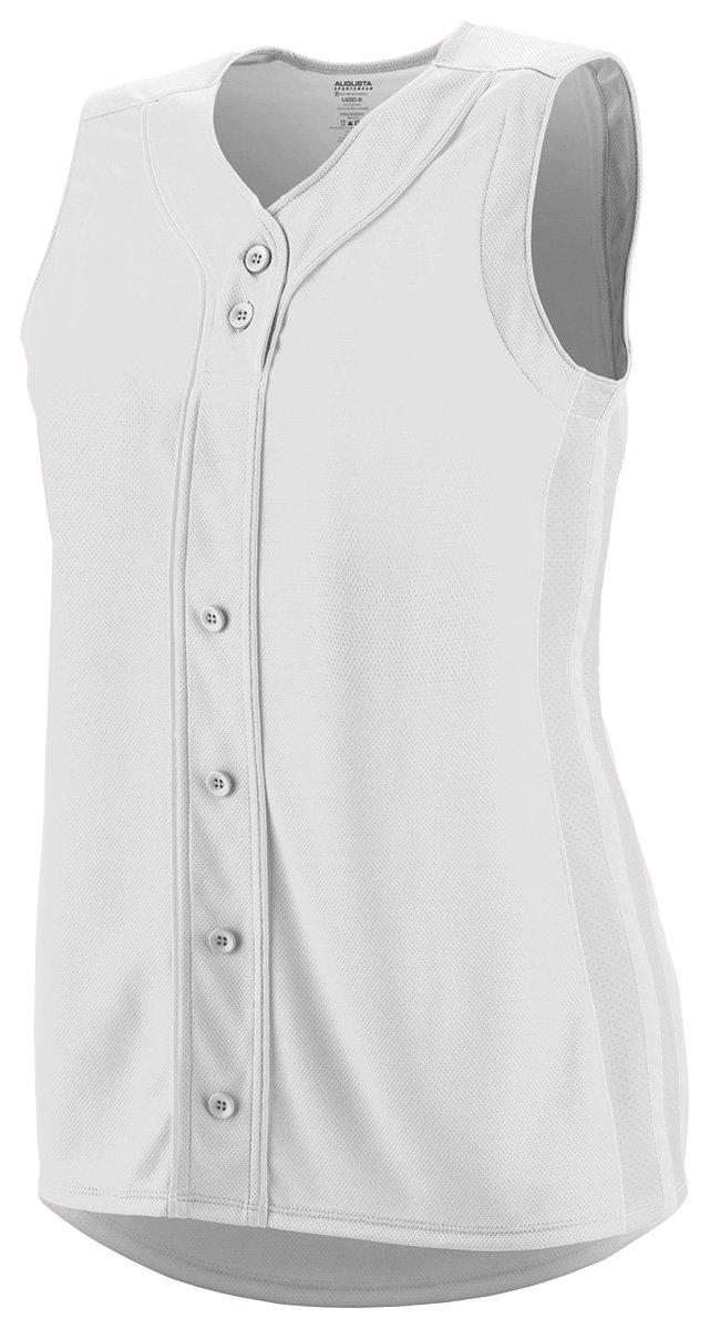 Augusta Sportswear Girls ' WinnerノースリーブSoftball Jersey B01C5G90MK Small ホワイト/ホワイト ホワイト/ホワイト Small