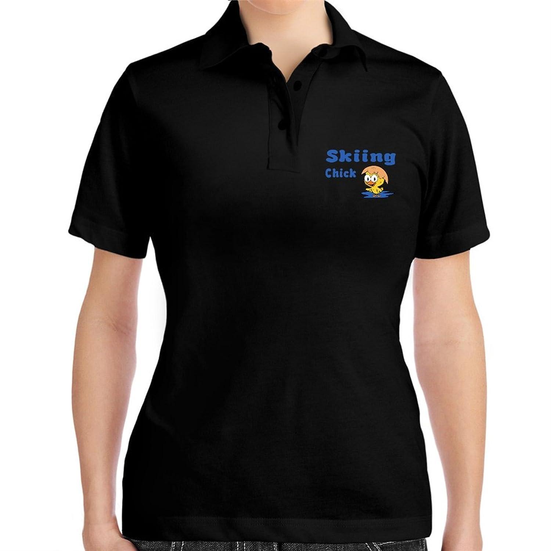 Skiing chick Women Polo Shirt