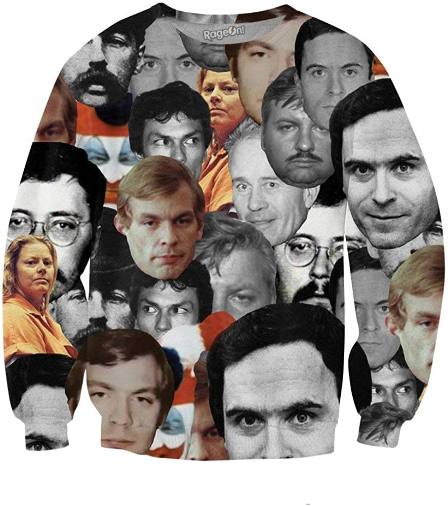 RageOn Lets Rage Serial Killers Crewneck Premium All Over Print Sweatshirt