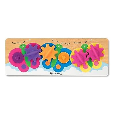 Melissa & Doug Fluttering Butterflies Gear Toy With 6 Interchangeable Gears: Melissa & Doug: Toys & Games