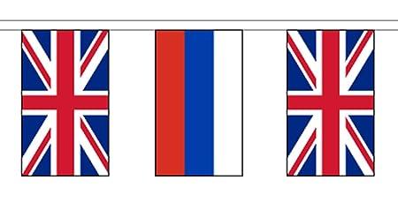 1000 Flags Banderines de la Federación de Rusia y Reino Unido con ...