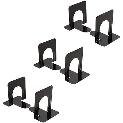 4 3//4 x 5 1//4 x 5 UNV54051 Standard Heavy Gauge Steel Universal Economy Bookends 5 Pair Black