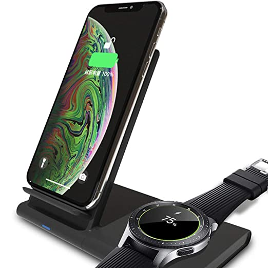 HHORD Soporte De Cargador Inalámbrico 2 EN 1 para Samsung Galaxy ...
