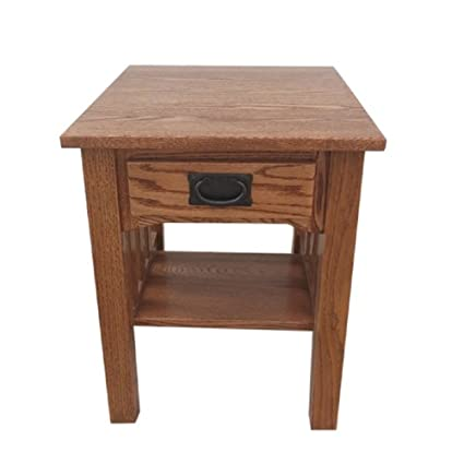 Mission End Table Side Table Solid Oak Made By Amish Craftsmen