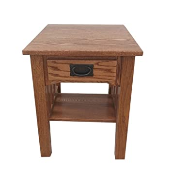 Charming Mission End Table Side Table Solid Oak Made By Amish Craftsmen