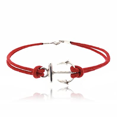 Cordon Rouge Femme Sovats Bracelet AncreBijoux wvmnN80