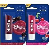 NIVEA Lip Balm, Blackberry Shine, 4.8g