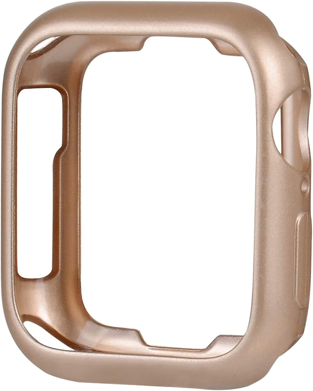 JSGJMY Soft TPU Case Compatible with Apple Watch 38mm 40mm 42mm 44mm Series 6,Series 5,Series 4,Series 3,Series 2,Series 1(Champagne Gold, 38mm/40mm)
