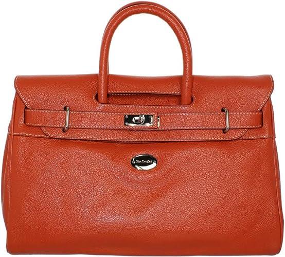 MAC DOUGLAS Femme- Sac porte main- pyla-buni, Orange (34ci), XS