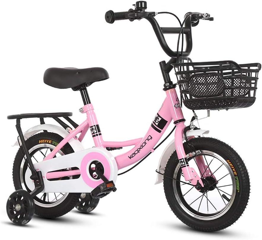 Jiamuxiangsi Bicicletas 1-2-3-6-7-10 años niña de Bicicletas Car Girl Princesa del niño del Muchacho de los niños Bicicleta Bebe (Color : Powder, Talla : 14 Inches Long)