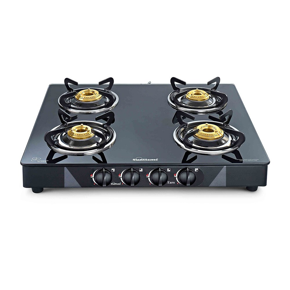 Gas Cooktop Glass Buy Sunflame Classic Auto Ignition Toughened Glass Cooktop 4