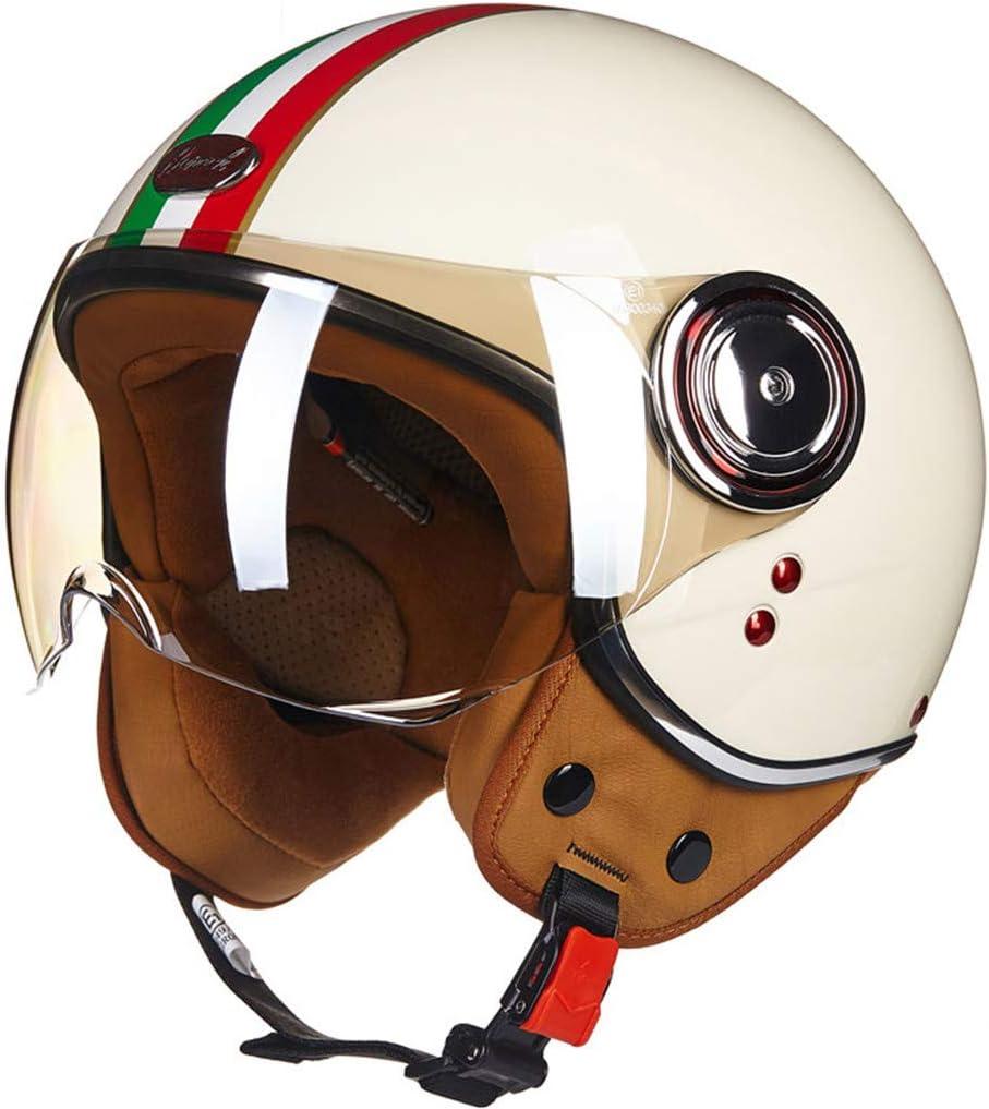 O-Mirechros Casco la Motocicleta Vespa la Vendimia Abierta la Cara Casco Retro Montar a Caballo compite con el Casco