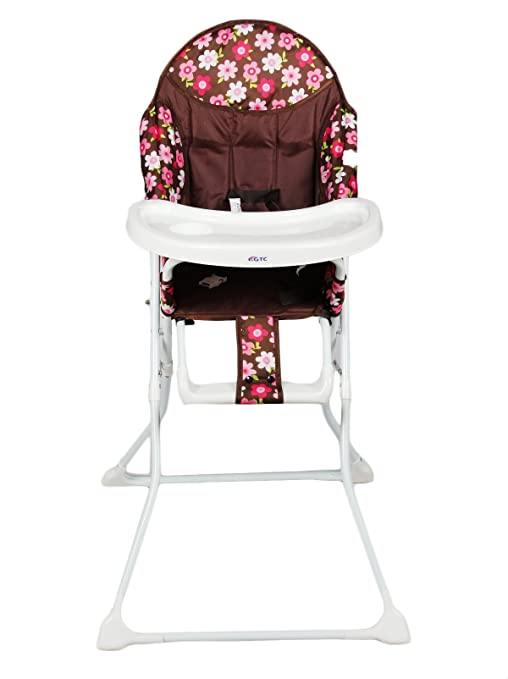 baby dining chair. gtc fold able high chair , baby dining itn-001 (chocolaty) e