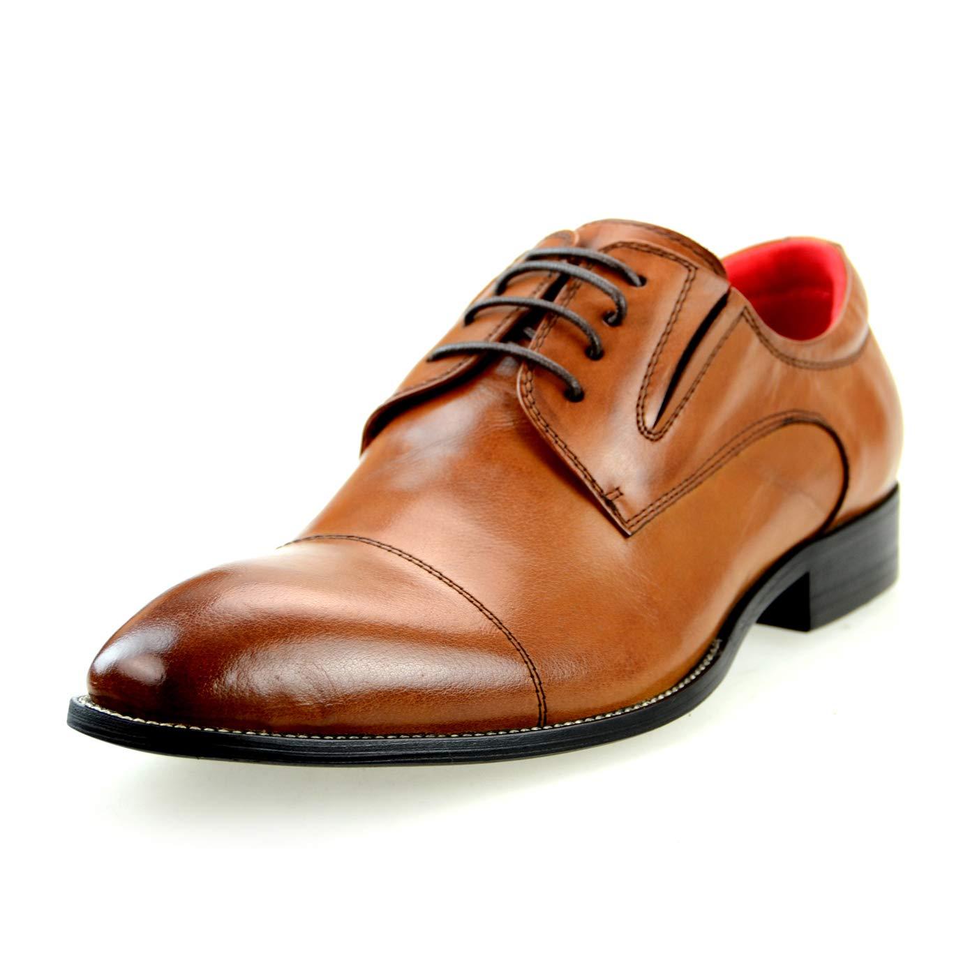 [ルシウス] ビジネスシューズ レースアップシューズ オックスフォードシューズ メンズ 革靴 紳士靴 本革 牛革 レザー 何種類もの中から選べる [ BZB017 ] 109-88 ブラウン 27.0 cm
