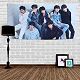 Bosunshine BTS Tapestry Love Yourself Fake Love V Suga Jimin Jung Kook Wall Hanging Decor for Home BTS-R Version
