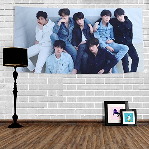 - Bosunshine BTS Tapestry Love Yourself Fake Love V Suga Jimin Jung Kook Wall Hanging Decor for Home BTS-R Version