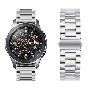 Miimall - Correa de Reloj para Samsung Gear S3 Frontier/Classic Smartwatch (Acero Inoxidable), para Compatible Samsung Gear S3 Frontier/Gear S3 ...