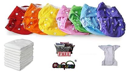 Pocket pañales lavables Pocket 3 piezas + 6 puntas – Omaggio Wet Bag – Micropile –