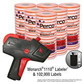 Monarch 1110 Price Gun With Labels Value Pack: Includes Monarch 1110 Pricing Gun, 102,000 Fluorescent Red Pricemarking Labels, Bonus Inkers
