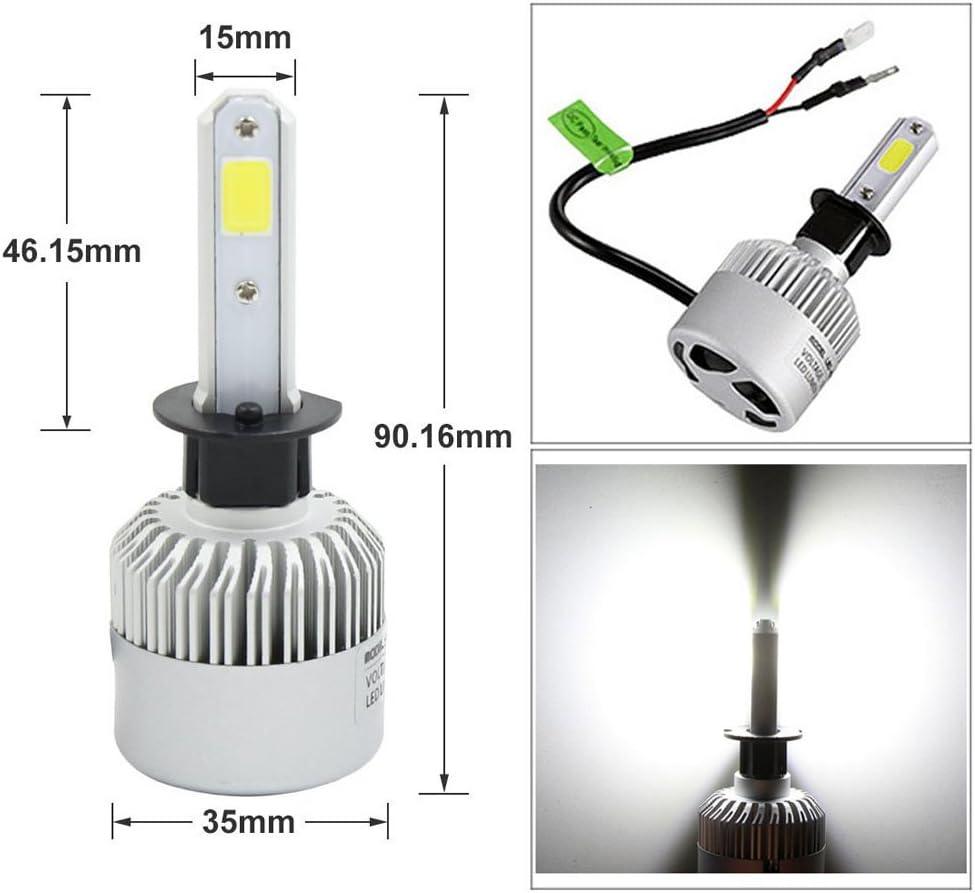 2PCS LED Headlight Low Beam Light High Beam Light Fog Light All-in-One Conversion Kit 9005 H10 HB3 Base 72W 6500K 8000Lm Xenon White