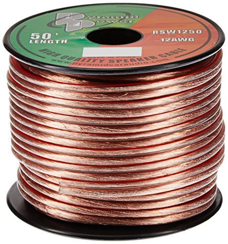 Pyramid RSW1250 12-Gauge 50-Foot Spool of High-Quality Speaker Zip Wire (Colors May Vary) ()