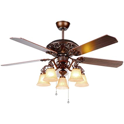 rustic fan light outdoor andersonlight classical rustic ceiling fan antique style wood leafs with light retro glass lampshade