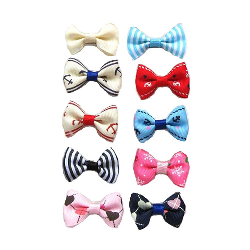 Carykon 20Pcs Dog Hair Clips Heart Sunglass Pet Hair Bows Alligator Hairpins Small Animal Hair Barrettes Pet Hair Accessories, Multicolor by Carykon (Image #3)