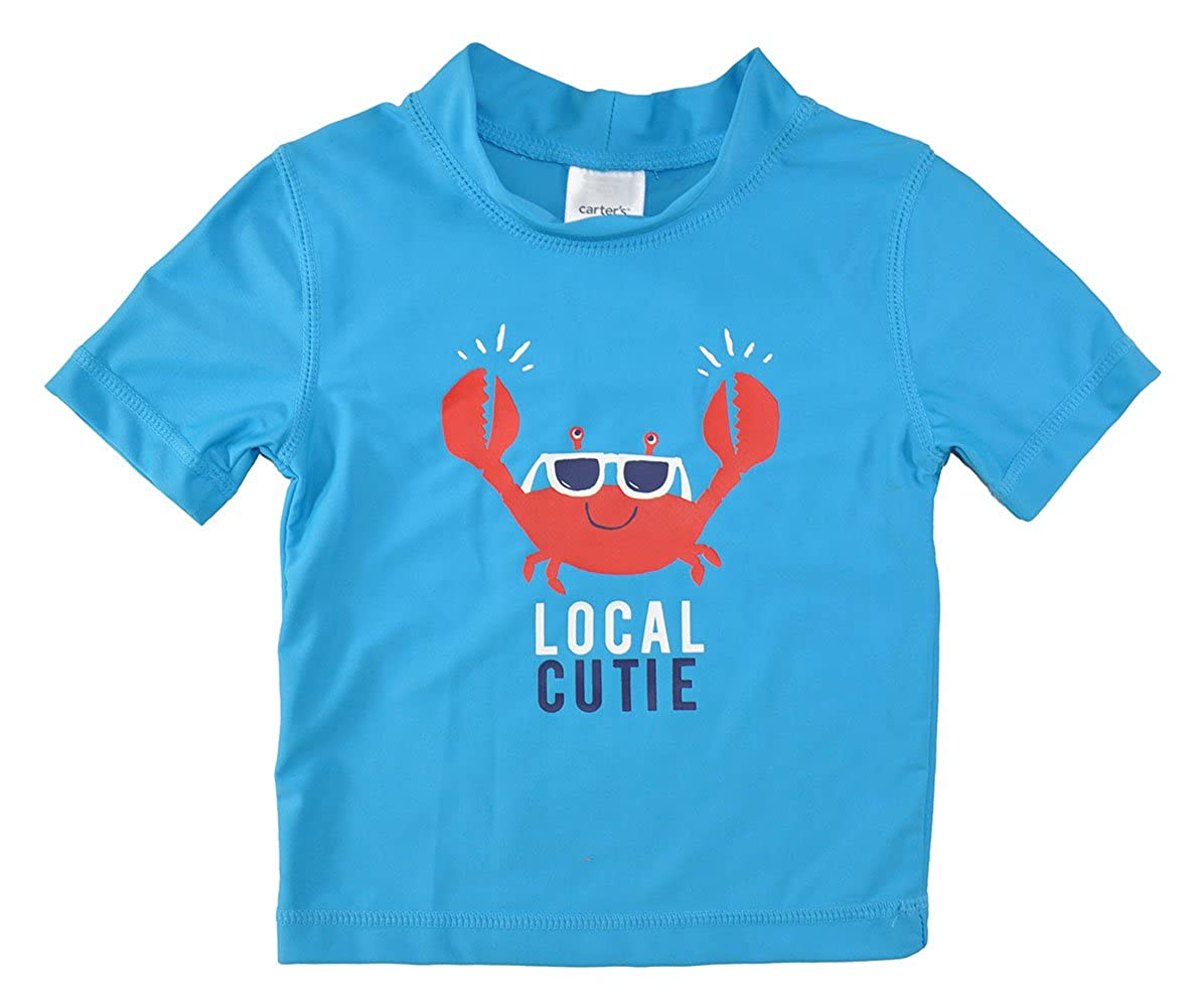 Carter's. Little Boys' Toddler Turquoise Local Cutie Rashguard Top Carter's.