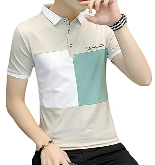 47974b3c96 ARTFFEL Men's Turn Down Collar Summer Casual Trendy Short Sleeve Golf Polo  Shirt at Amazon Men's Clothing store:
