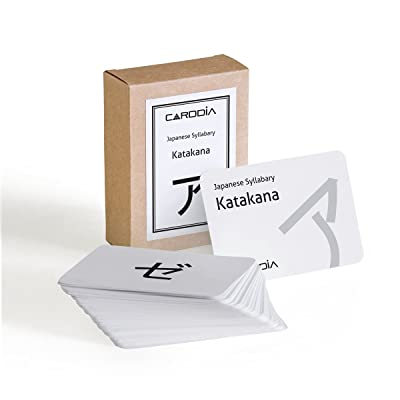 CARDDIA Japanese Syllabary - Katakana (with Stroke-Order Diagrams and Example Words): Toys & Games