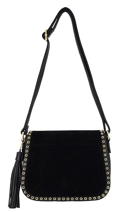 453ee70d6742 CRAZYCHIC - Women s Stud Crossbody Bag - Suede PU Leather Shoulder Bag -  Fringe Tassel Evening