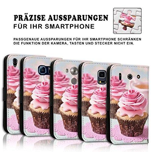 Wallet Book Style Flip Handy Tasche Case Schutz Hülle Schale Motiv Etui für Apple iPhone 6 Plus / 6S Plus - Design Flip MVD167