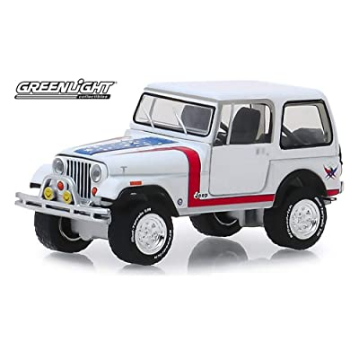1981 Jeep CJ-7 Custom (Lot #3005), Barrett- Jackson Series - Greenlight 37180/48 - 1/64 Scale Diecast Model Toy Car: Toys & Games