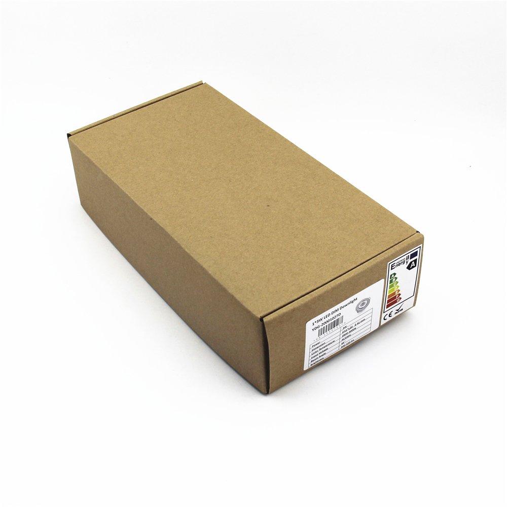 Pack of 10 3W COB LED Lights Mini Adjustable Recessed Downlights 3000K by Joyinled (Image #4)