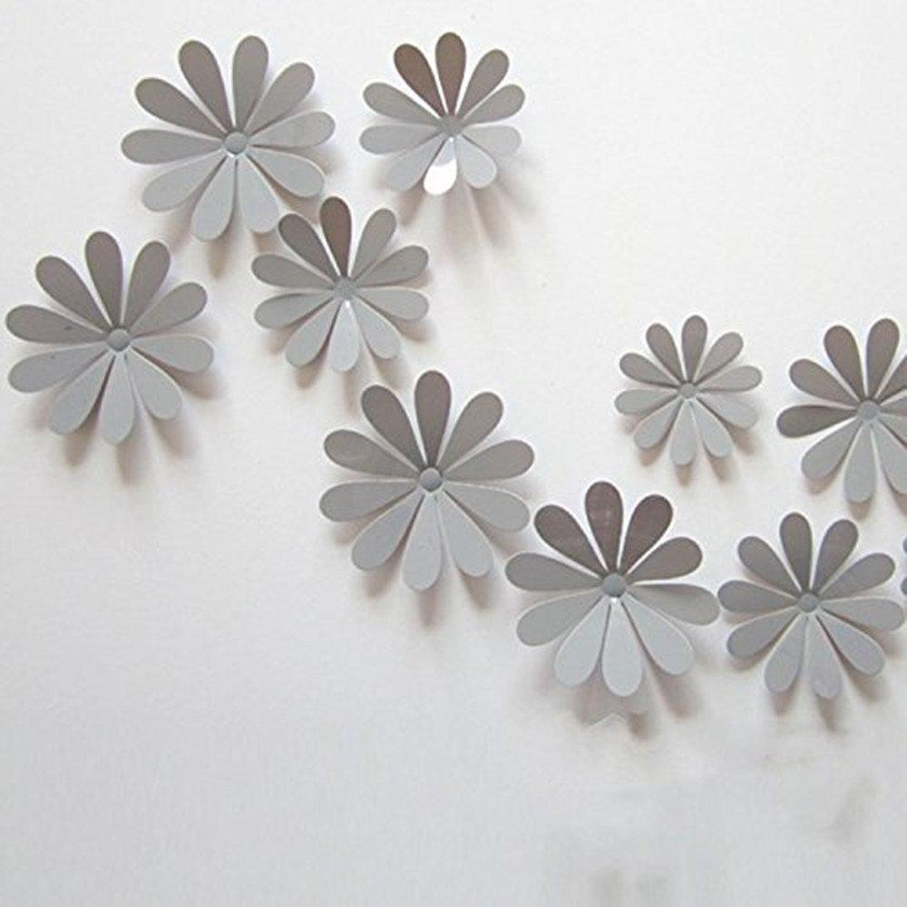 Amazon Lenofocus 12pcs 3d Flower Wall Stickers Decor Art