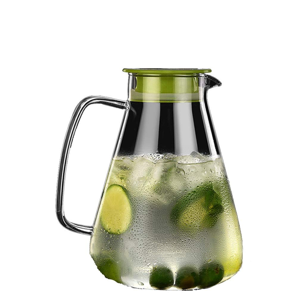 Household glass cold kettle explosion-proof kettle teapot large capacity cool white boiling water cup heat-resistant high temperature tea kettle CHAJU (Color : A, Size : 2000ml) by CHAJU