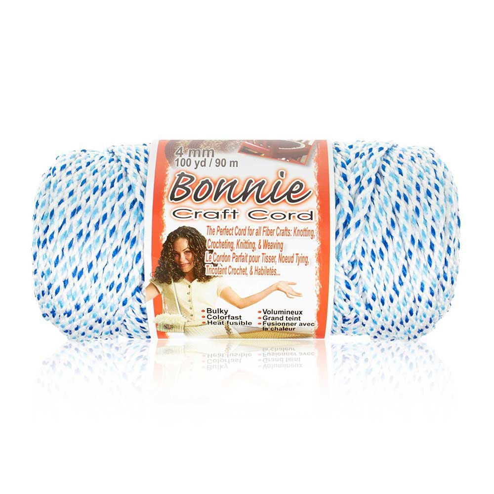 Craft County Wide Variety Color Selection 100 Yards Macram/é Cord 4MM Bonnie Cord