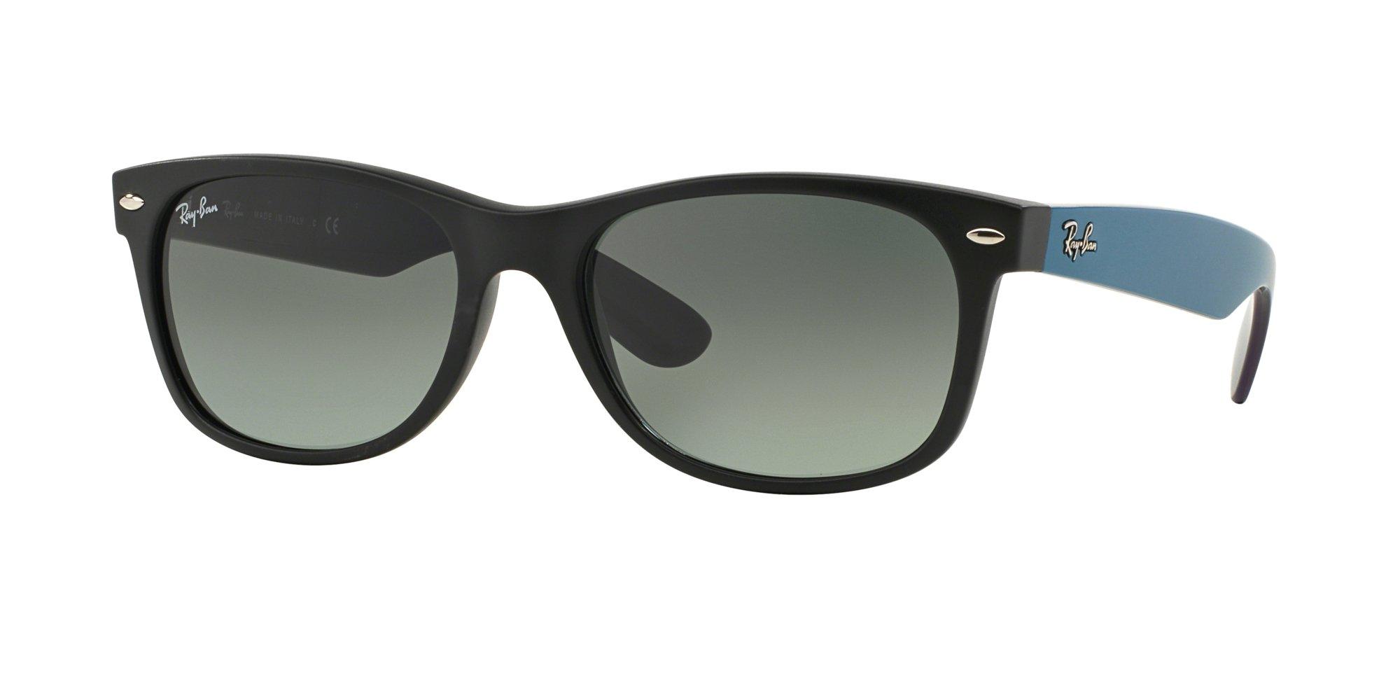 Ray Ban RB2132 NEW WAYFARER 618371 55M Matte Black/Grey Gradient Dark Grey Sunglasses For Men For Women