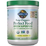 Garden of Life Raw Organic Perfect Food Green Superfood Juiced Greens Powder - Original Stevia-Free, 30 Servings, Non-GMO, Gl