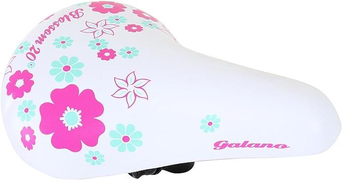 galano niña Sillín Girls Niños Sillín Bicicleta Niña Blanco: Amazon ...