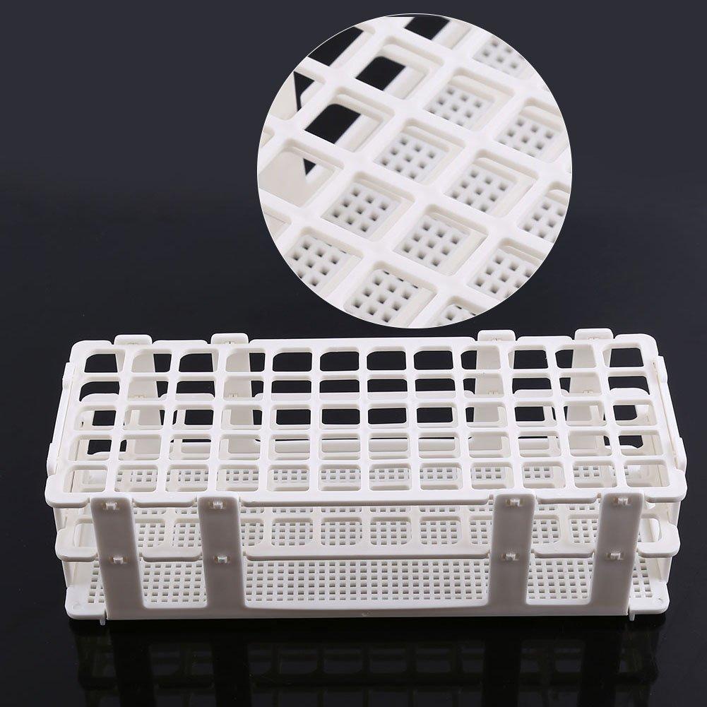 Support pour Tube /à Essai D/étachable 60 Trous Diam/ètre de Trou 16mm /à 3 Niveaux en Plastique Blanc