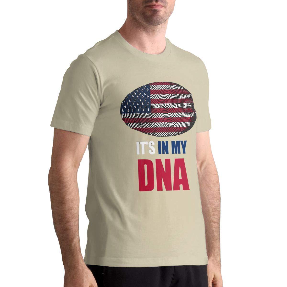 DANIELBURTON Cool Its in My DNA Mens Natural Shirts Top Tees Short Sleeve Shirts