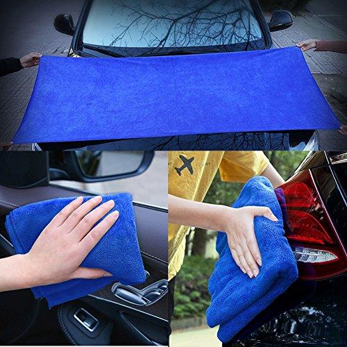[해외]세차 용품 - 자동 자세히 타월 24 x 60 인치, 2 팩 12 x 27 인치 두꺼운 마이크로 화이버 연마 왁싱 건조 수건 천을/Car Wash Supplies-Auto Detailing Towels Extra Large 24 x 60 inch ,2 Pack 12 x 27 inch Thick Microfiber Polishing Waxing Dr...